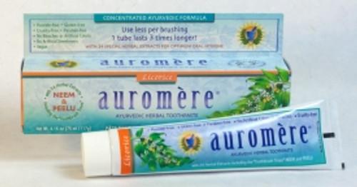 Toothpaste Ayurvedic Classic (Licorice) 117g - Auromere