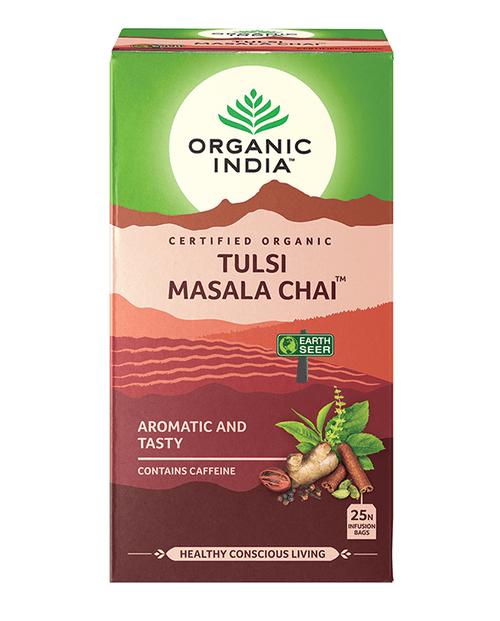 Tulsi Masala Chai Tea Organic 25 Bags - Organic India