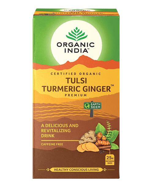 Tulsi Turmeric Ginger Tea Organic 25 Bags - Organic India