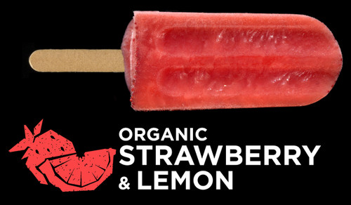 Ice Block Organic Strawberry & Lemon - Flyin Fox