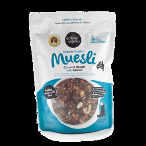 Muesli Coconut Rough with Berries Organic 450g - Eclipse Organics