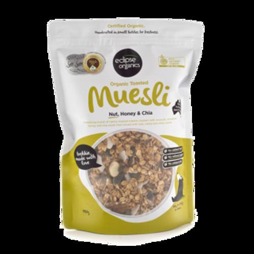 Muesli Nut Honey & Chia Toasted Organic 450g - Eclipse Organics
