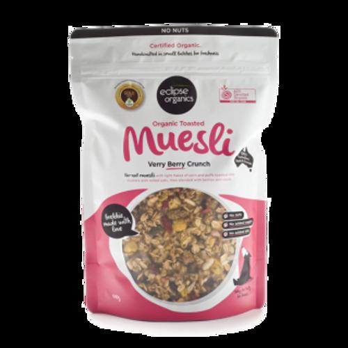 Muesli Verry Berry Crunch No Nut Organic 410g - Eclipse Organics