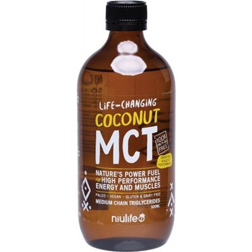 MCT Oil (Coconut) High Performance Organic 500ml - Niulife
