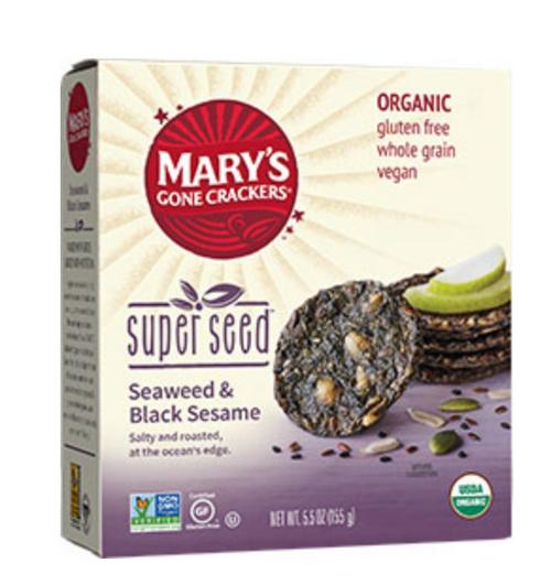 Superseed Seaweed/Black Sesame Crackers Organic 155g - Mary's Gone Crackers