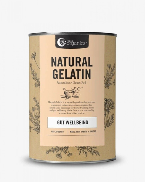 Gelatine Natural 250g - Nutra Organics (New Packaging)