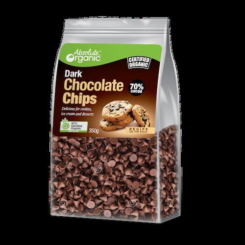 Chocolate Chips Dark 350g - Absolute Organic