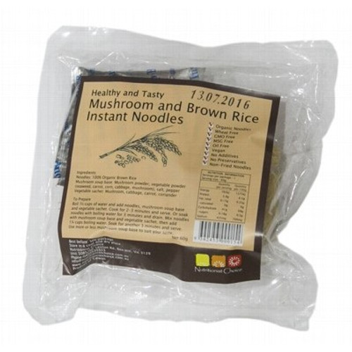 Instant Mushroom & Brown Rice Noodles 60g - Nutritionist Choice