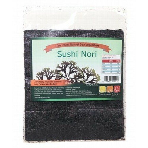 Sushi Nori Toasted 10 Sheets - Nutritionist Choice