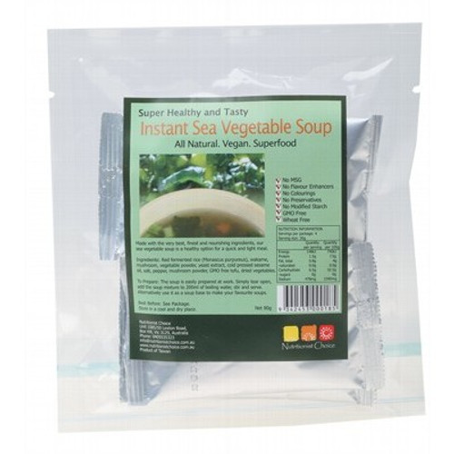 Instant Sea Vegetable Soup 4 x 20g - Nutritionist Choice