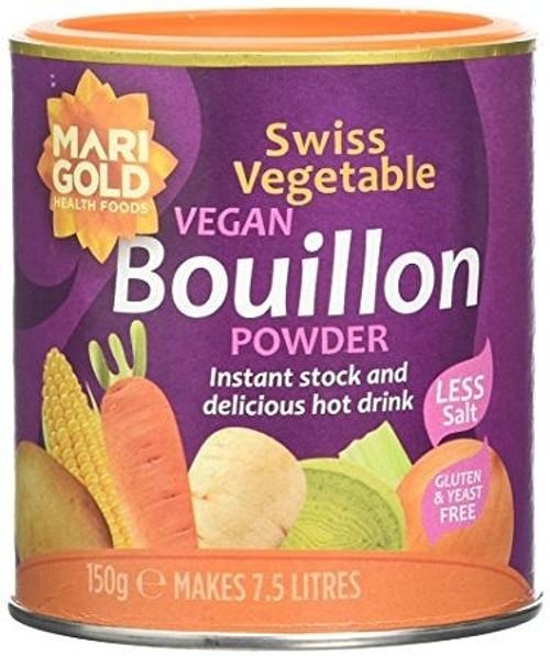 Vege Swiss Bouillon Powder Yeast Free 150g - Marigold Health