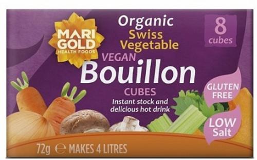 Vege Bouillon Cubes Low Salt 72g - Marigold Health