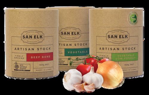 Beef Bone Artisan Stock Powder Organic 160g - San Elk
