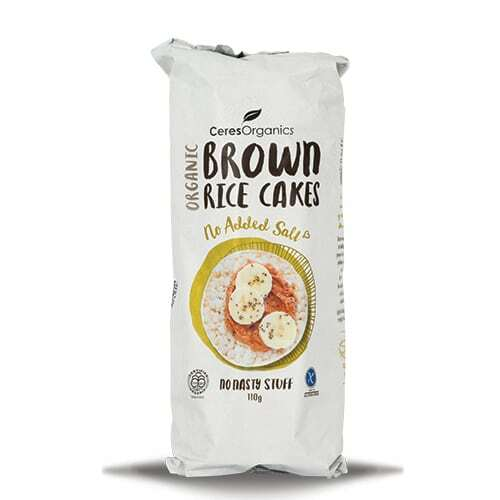 No Added Salt Brown Rice Cakes 110g - Ceres Organics