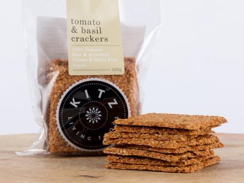 Tomato & Basil Crackers 100g - Kitz
