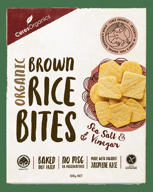 Brown Rice Bites Salt & Vinegar Organic 100g - Ceres Organics