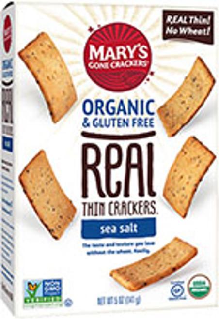 Crackers Sea Salt Real Thin Organic & Gluten Free 141g  - Mary's Gone Crackers