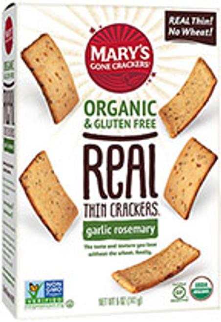 Crackers Garlic Rosemary Real Thin Organic & Gluten Free 141g- Mary's Gone Crackers