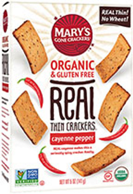 Crackers Cayenne Pepper Real Thin Organic & Gluten Free 141g - Mary's Gone Crackers