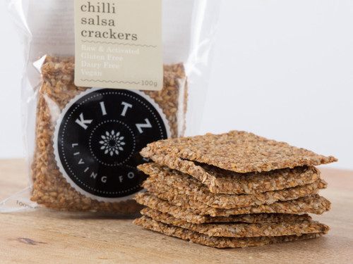 Chilli Salsa Crackers Organic 100g - Kitz