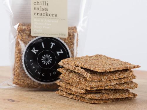 Italian Herb & Garlic Crackers Organic 100g - Kitz