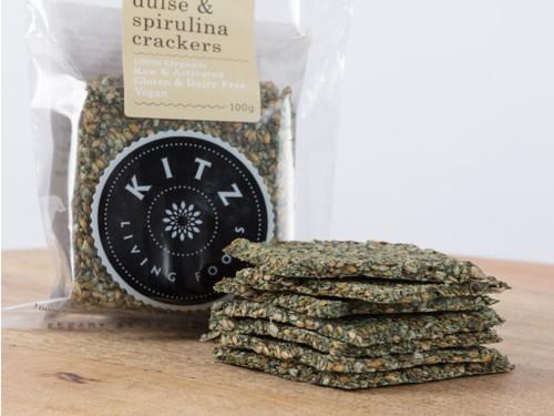 Herb & Spirulina Crackers Organic 100g - Kitz