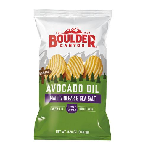 Potato Chips Malt Vinegar & Sea Salt (Avocado Oil) 148g - Boulder Canyon
