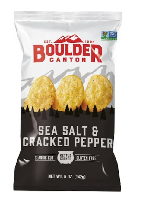 Potato Chips Sea Salt & Cracked Pepper 142g - Boulder Canyon