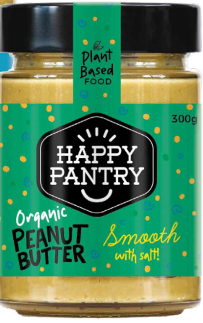 Peanut Butter Smooth Salted Organic 300g - Happy Pantry