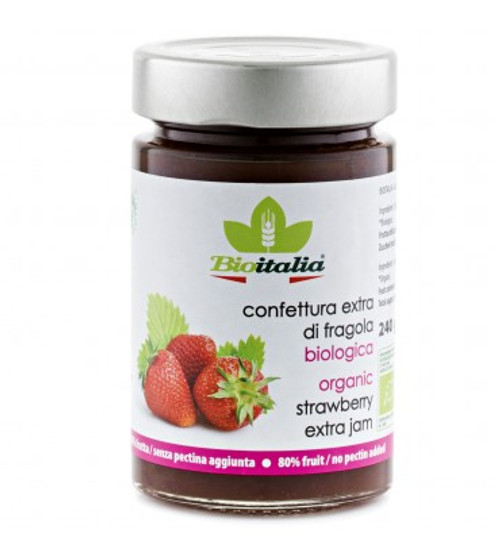 Strawberry Extra Jam Organic 240g - Bioitalia