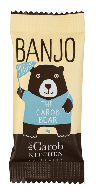 Carob Banjo Bear Original Vegan 15g - The Carob Kitchen