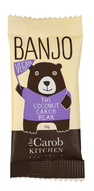Carob Banjo Bear Coconut Vegan 15g - The Carob Kitchen