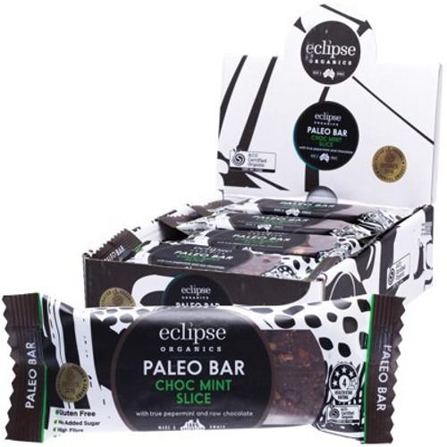 Choc Mint Slice Raw Paleo Bar Organic - Eclipse Organics