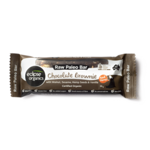 Chocolate Brownie Raw Paleo Bar - Eclipse Organics