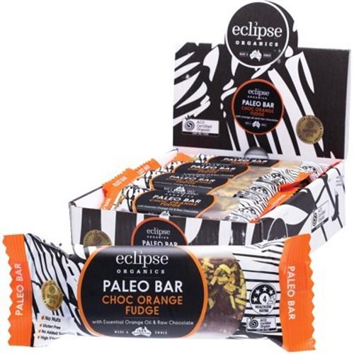 Choc Orange Fudge Raw Paleo Bar Organic - Eclipse Organics