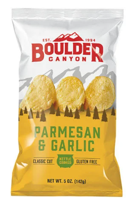 Potato Chips Parmesan & Garlic 142g - Boulder Canyon