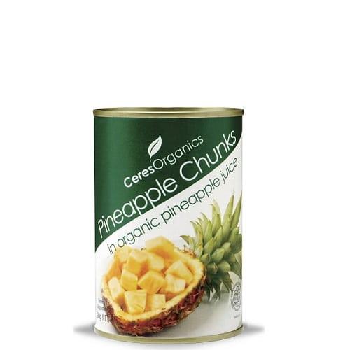 Pineapple Chunks In Fruit Juice Organic 400g - Ceres Organics