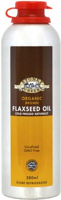Flaxseed Oil Brown Organic 280ml - Stoney Creek