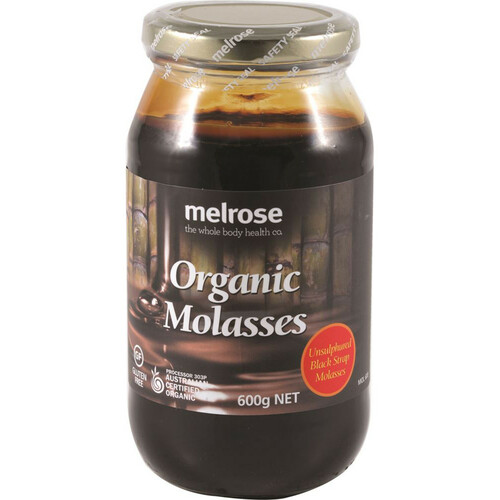 Molasses Black Strap Organic 600g - Melrose