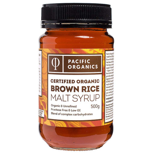 Rice (Brown) Malt Syrup Organic 500g - Pacific Organics