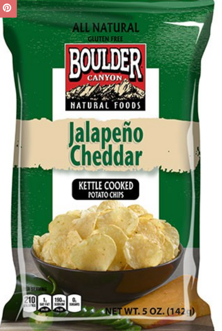 Potato Chips Jalapeno Cheddar 142g - Boulder Canyon