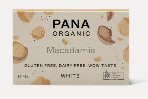 White Chocolate Macadamia Raw Organic 45g - Pana