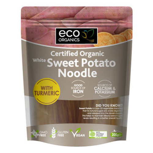Sweet Potato Noodle White with Turmeric Organic 200g- Eco Organics