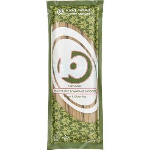 Brown Rice & Wakame Noodles Organic 250g - King Soba