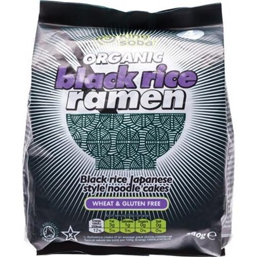 Black Rice Ramen Noodle Cakes Gluten Free 280g - King Soba