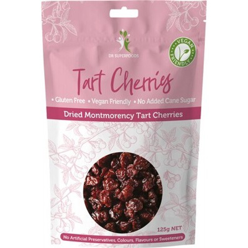 Tart Cherries Dried 125g - Dr Superfoods