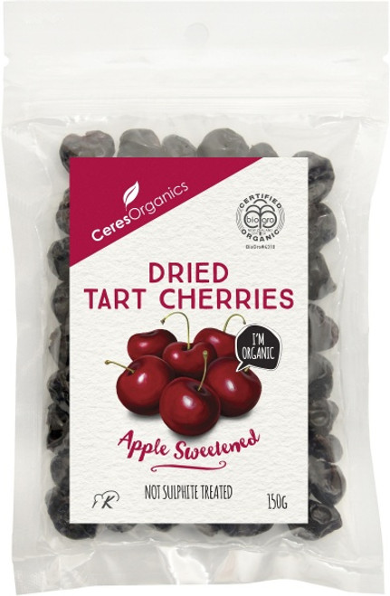 Cherries Dried Tart Organic 150g - Ceres Organics