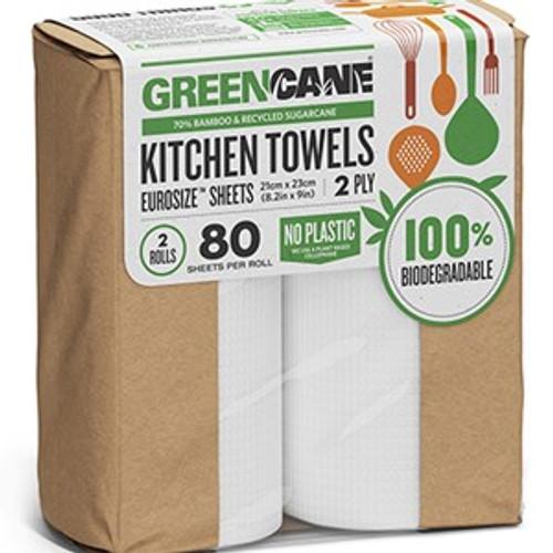Paper Kitchen Towels 2 Pack - Greencane