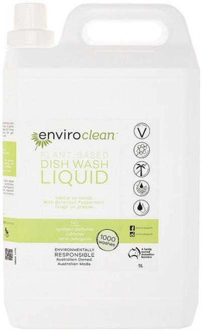 Dish Liquid Peppermint 5L - Enviroclean