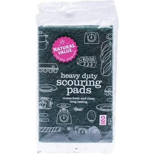 Scouring Pads Heavy Duty 2pk - Natural Value
